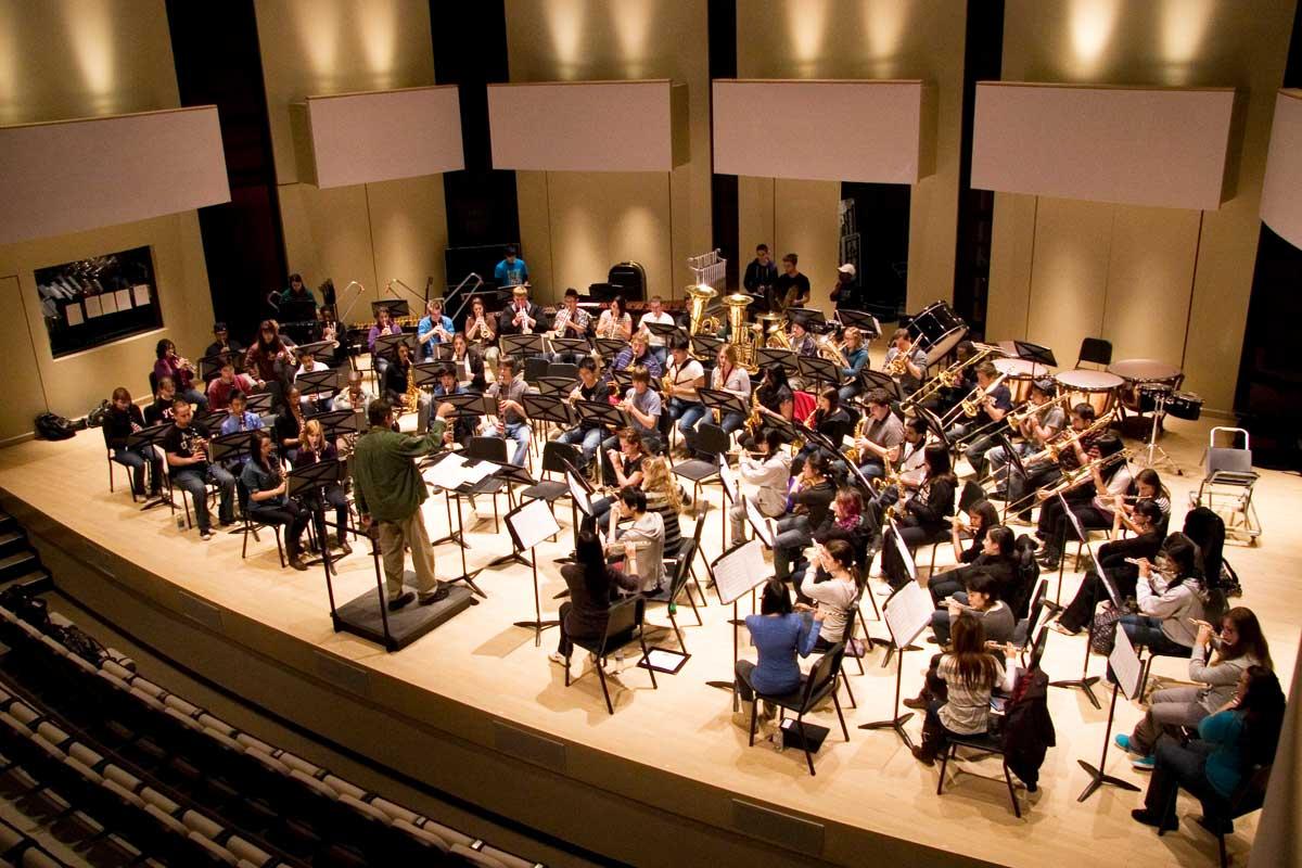 York U Wind Symphony Rehearsal in the Tribute Communities Recital Hall