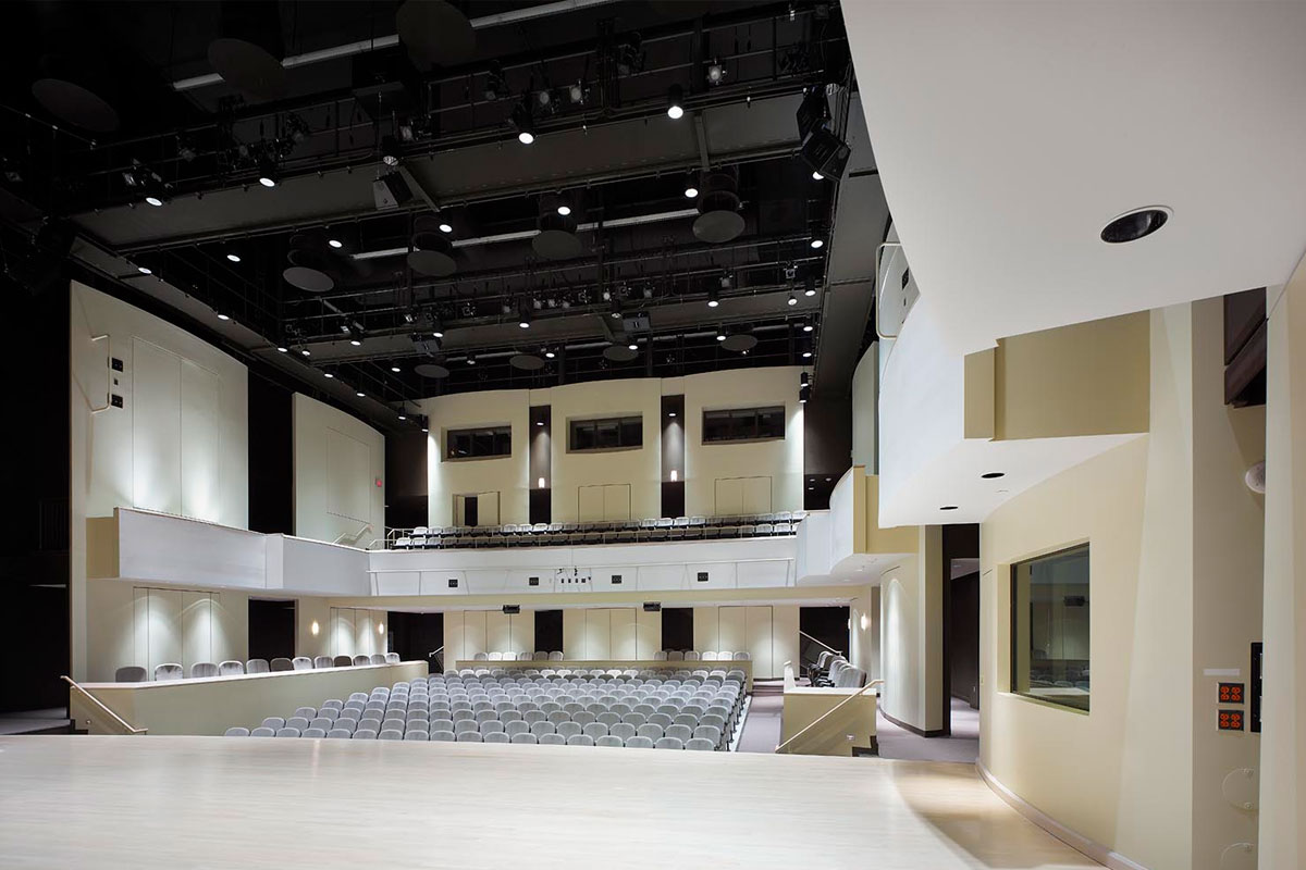 Tribute Communities Recital Hall (view from stage)