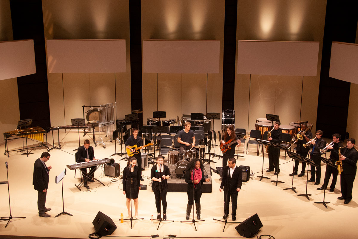 R&B Ensemble performs in the Tribute Communities Recital Hall