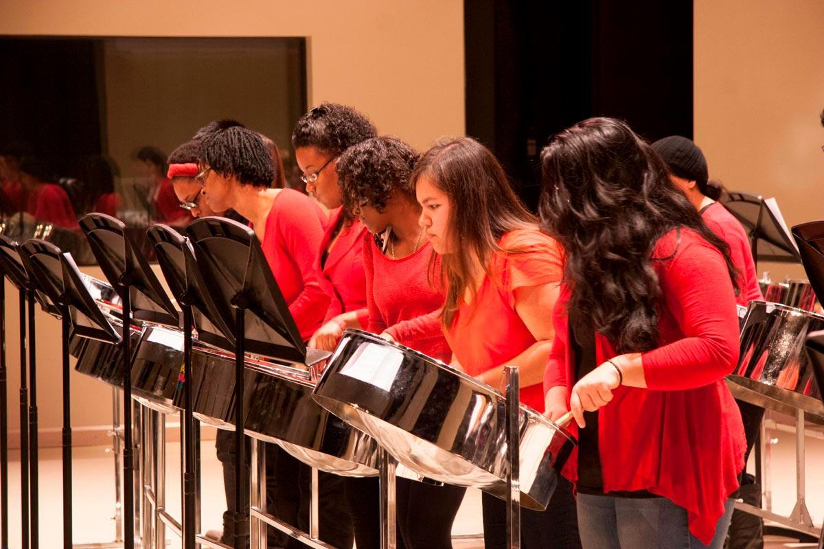 Caribbean Ensemble performs in the Tribute Communities Recital Hall